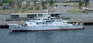 水産庁所有の漁業取締船【白鷺】